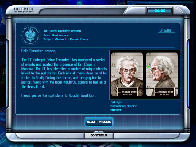A Mission Briefing Screen