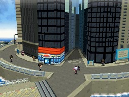 The full 3D towns of Unova.