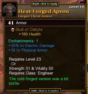 Class Specific Armor