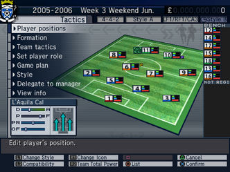 A look at the game's tactics screen.