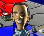 Mr. Obama portrayed in The Political Machine