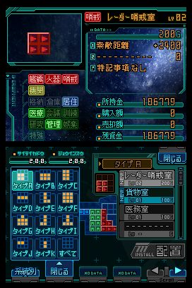 The statistics of the player's ship.