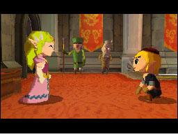 Princess Zelda and Link talk as friends.