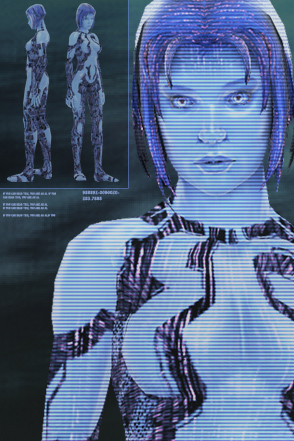 Cortana as she appears in Halo 3