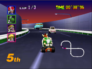 Bowser in Mario Kart 64