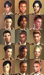 Female character faces