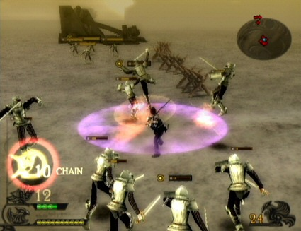 Screenshot of the on-foot combat in the first Drakengard.