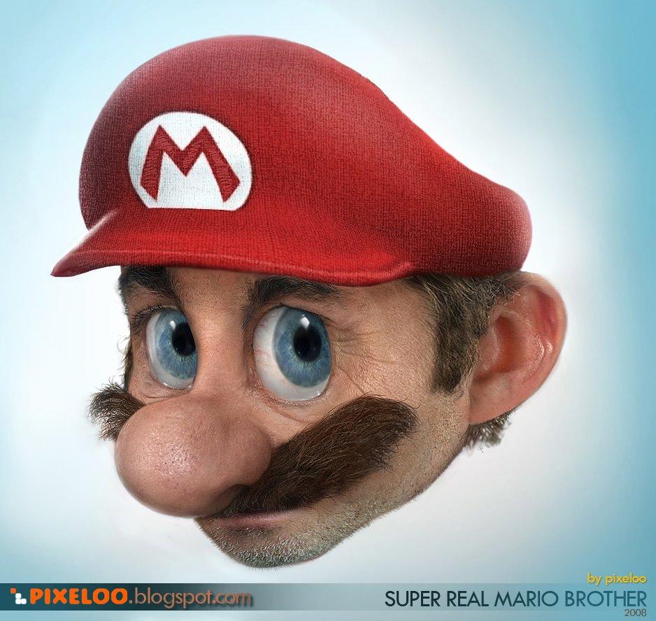 It's a creepy... Mario!