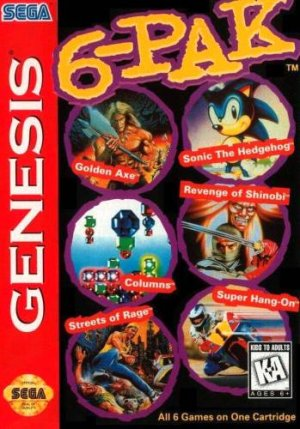 6-Pak included many popular Genesis games, including Streets of Rage