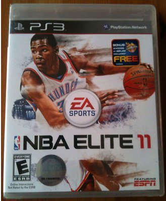 Image of a leaked copy of NBA Elite 11.