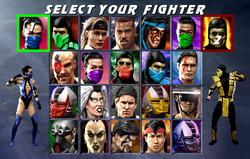 The 22 playable characters (including the three unlockable characters)