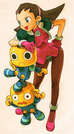 Tron Bonne, a pirate, must use the help of her servbots in order to pay off a loan shark's debt.