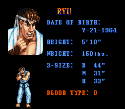 Belated Happy Birthday shout-out to Ryu