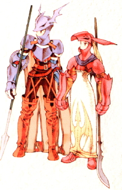 Male and Female Dragoons in Final Fantasy Tactics: War of the Lions