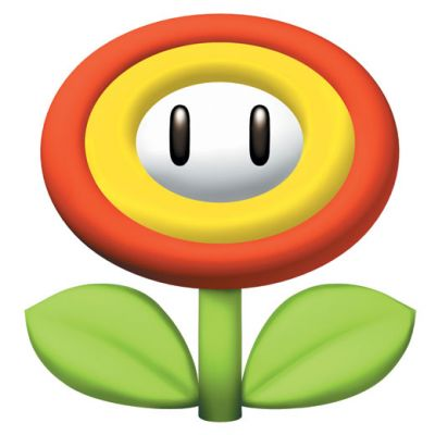 The fire flower appears as a power-up for the first time in Mario Kart 7