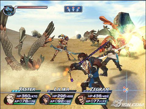 Battle Screenshot, showing Jaster, Lillika and Zegram