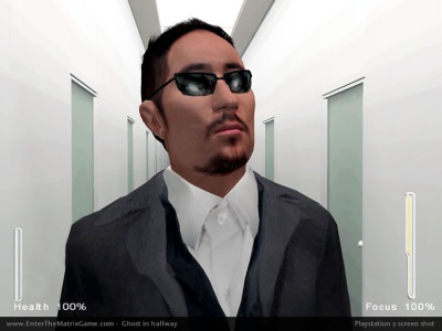 Ghost, one of the two player-characters in Enter the Matrix's story.