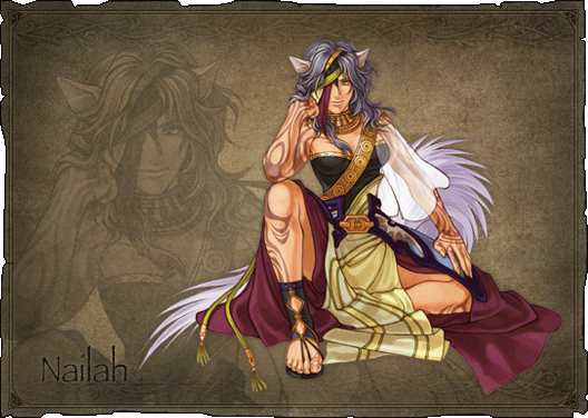 Nailah, queen of the Wolf Tribe of laguz.
