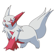 Zangoose, one of the Pokemon exclusive to Ruby Version.
