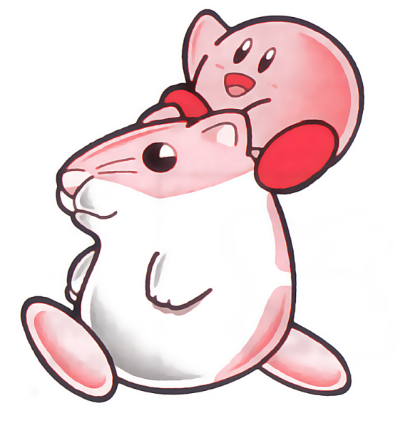 Dream Land 2 introduces three new rideable friends, such as Rick the Hamster above.