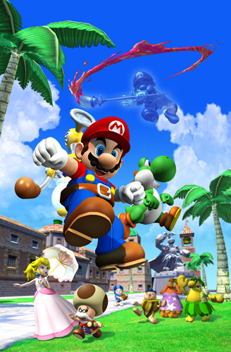 The main cast of Super Mario Sunshine