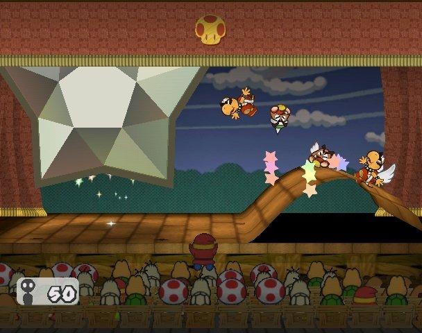 Mario using the special move, Earth Tremor.