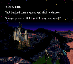 Kid, Serge, and Magil approach Viper Manor.