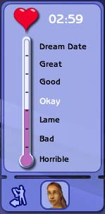 The success meter at the very start of a date.