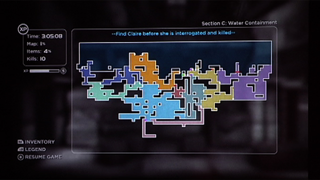 A partially completed map screen from the E3 demo.