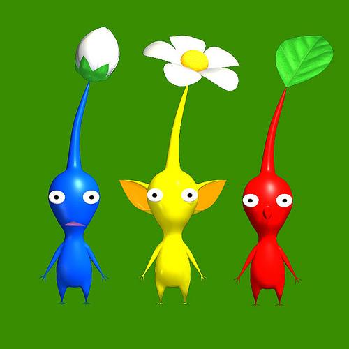 The three Pikmin Types