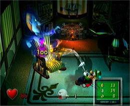 Luigi Fighting a Ghost