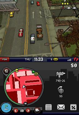 Example of a police chase in the game.