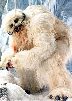 Wampa in an ice cave