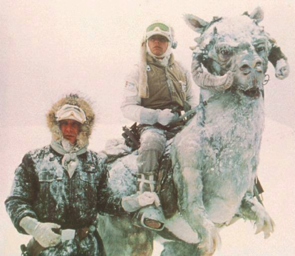 Tauntaun and two rebel soldiers