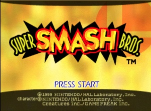 Super Smash Bros was the first in the franchise on the Nintendo 64.
