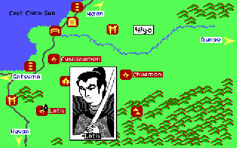 The Samurai and Hatamoto phases require a lengthy travel sequence with random encounters.