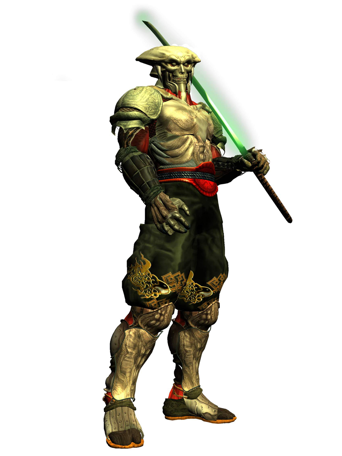 Hey, you bring that from Soul Caliber?
