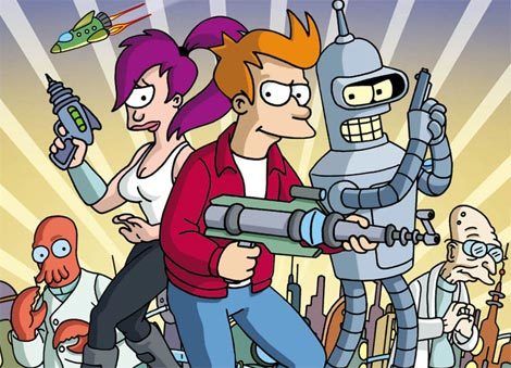 Bender and friends.