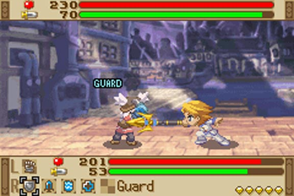 Battles are side-scrolling, unlike the rest of the game.