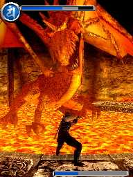 One of the game's many massive bosses.