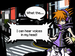Neku discovers the Player Pin's abilities.