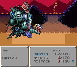 Robotrek's battle system is a mixture of Pokémon and Final Fantasy.