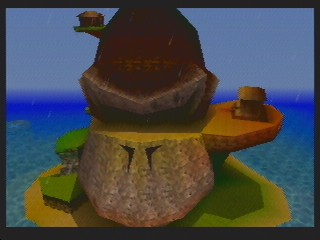 The DK Island, the hub to access the worlds.
