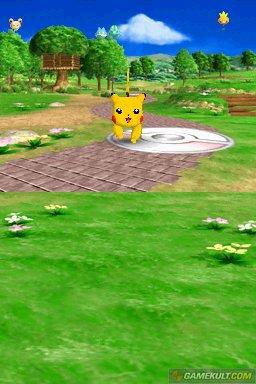 Pikachu frolicking