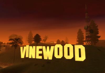 Vinewood, Los Santos. Notice the inspiration?
