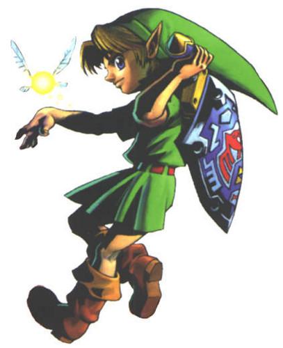 Link and Tatl from The Legend of Zelda: Majora's Mask.