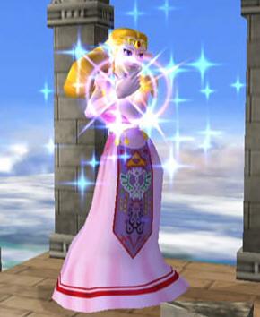 Zelda's appearance in Super Smash Bros. Melee, based on her Ocarina of Time design.