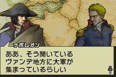 Napoleon talking in an in-game cutscene.