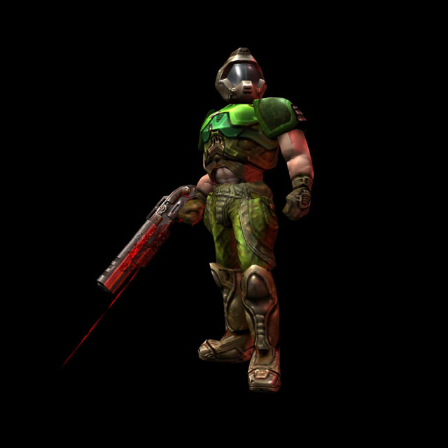 Doomguy as he appears in Quake 3 Arena