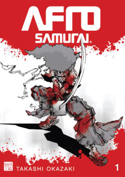 Cover of volume one of the Afro Samurai graphic novel
